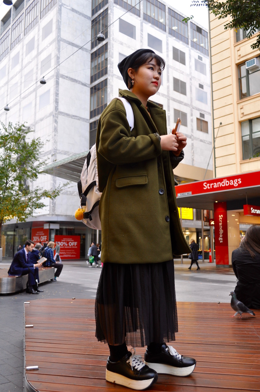 "SA: Gloria Yang, English student, Adelaide. ""I like lace, sheer and modern styles."" Photo: Stacey"