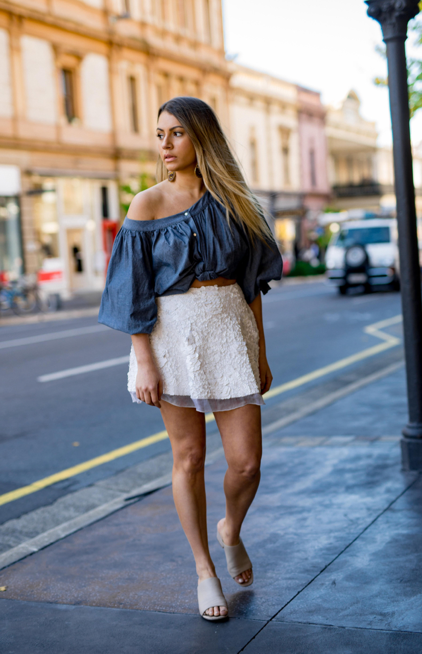 "SA: Jade Torres, director of Pwerle Gallery, <a href=""http://www.rundlestreet.com.au/"" target=""_blank"">Rundle Street East </a>. ""Channeling a chic but edgy look."" Photo: Dimitra Koriozos"