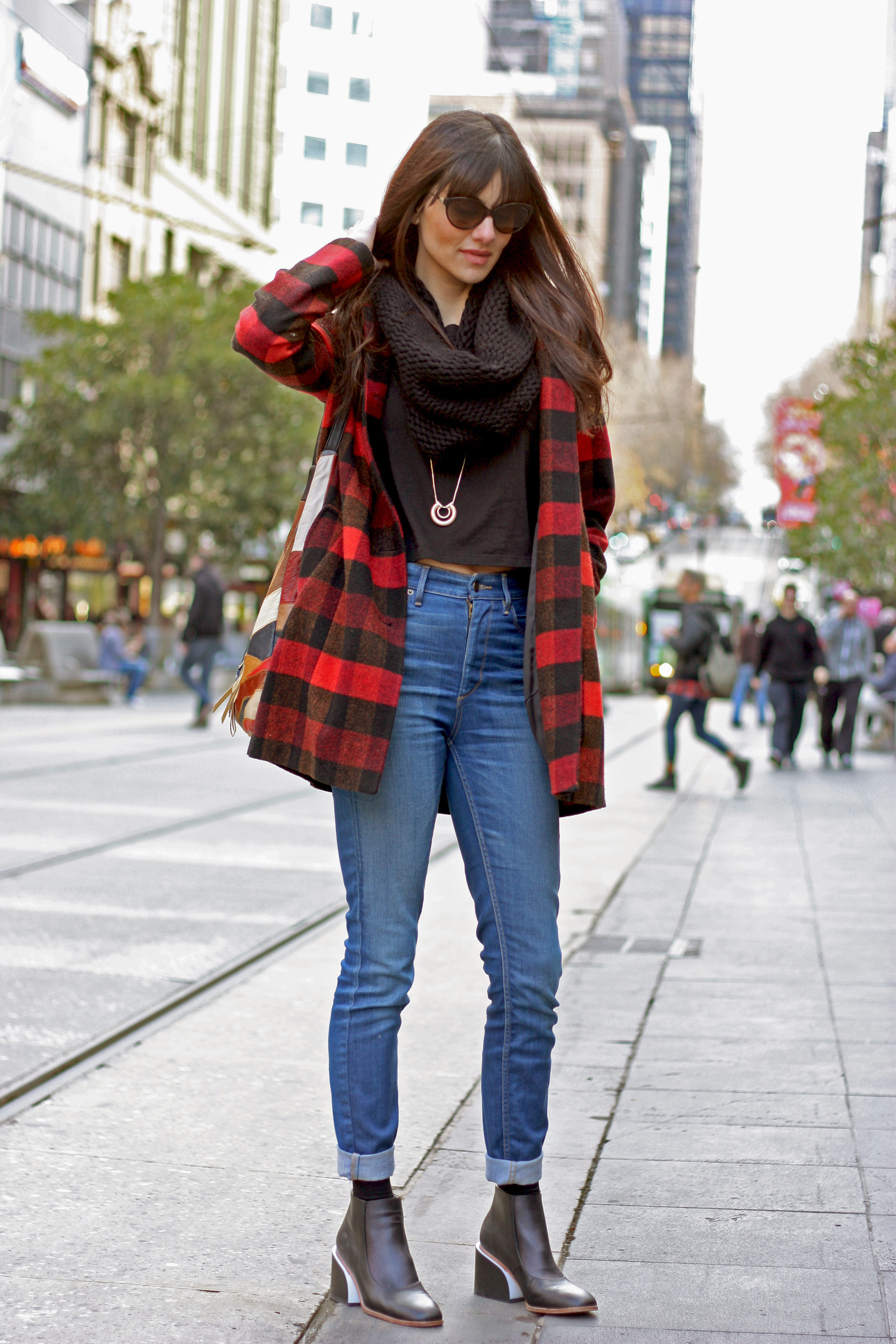 "Vic: Jacinta Siracusa, marketing partner, Bourke St Mall. ""I wear what speaks to me, not necessarily what's in fashion."" <a href=""http://marythamphotography.weebly.com/"" target=""_blank""> Photo: Mary Tham </a>"