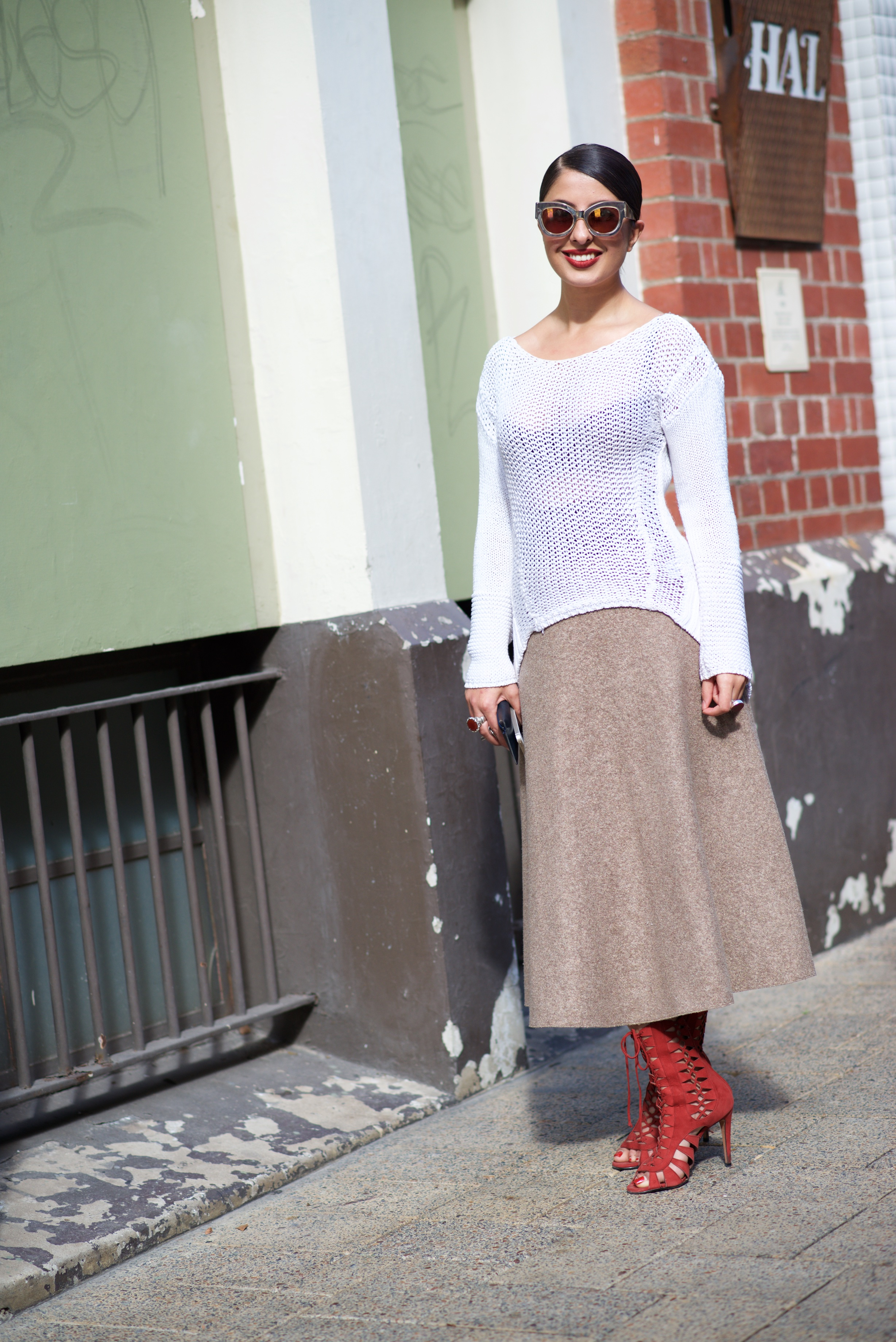 "WA: Nilofa Khirzad, King St, Perth city. ""My style's clean and chic."" Photo: Alan Wu."