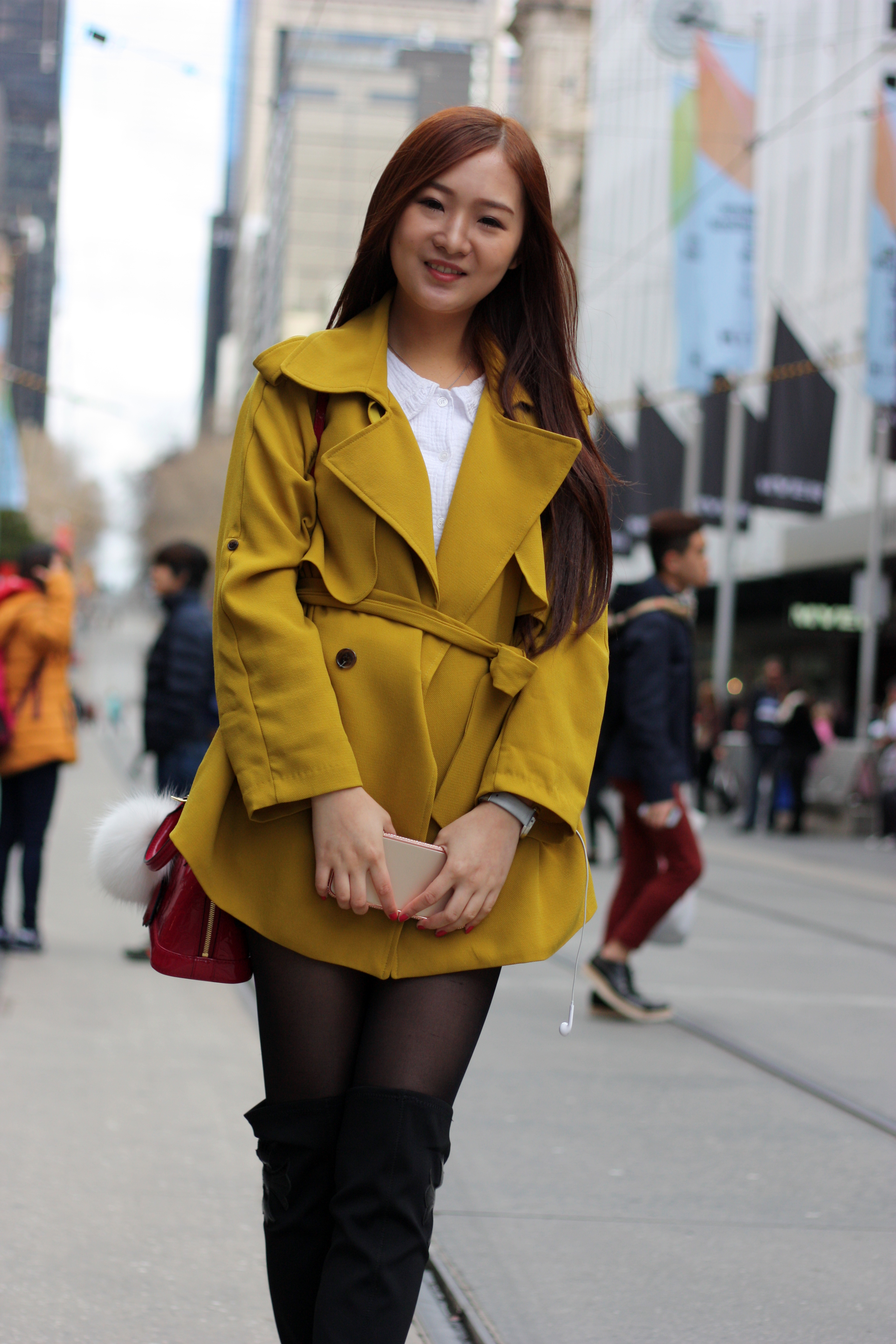 "Vic, Arabella Li, student,  Bourke St Mall.  ""I wear colourful clothes from Korea and China."" <a href=""http://marythamphotography.weebly.com/"" target=""_blank""> Photo: Mary Tham </a>"