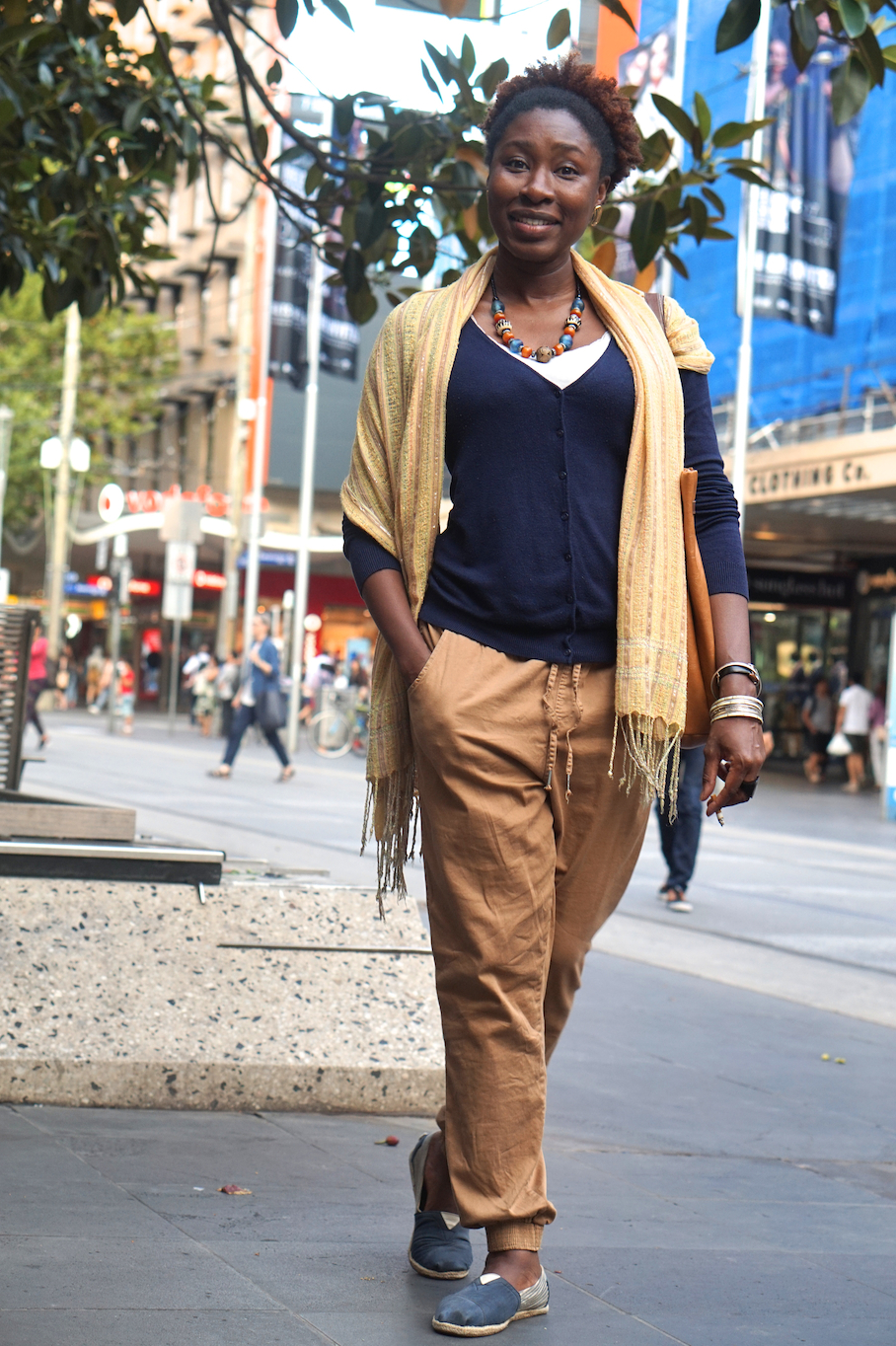 "Vic: Ana Priscila, Telecoms Engineer, Bourke St Mall. ""Just one sentence sums me up...Makuanita. It's my nick-name."" Photo: Stacey"