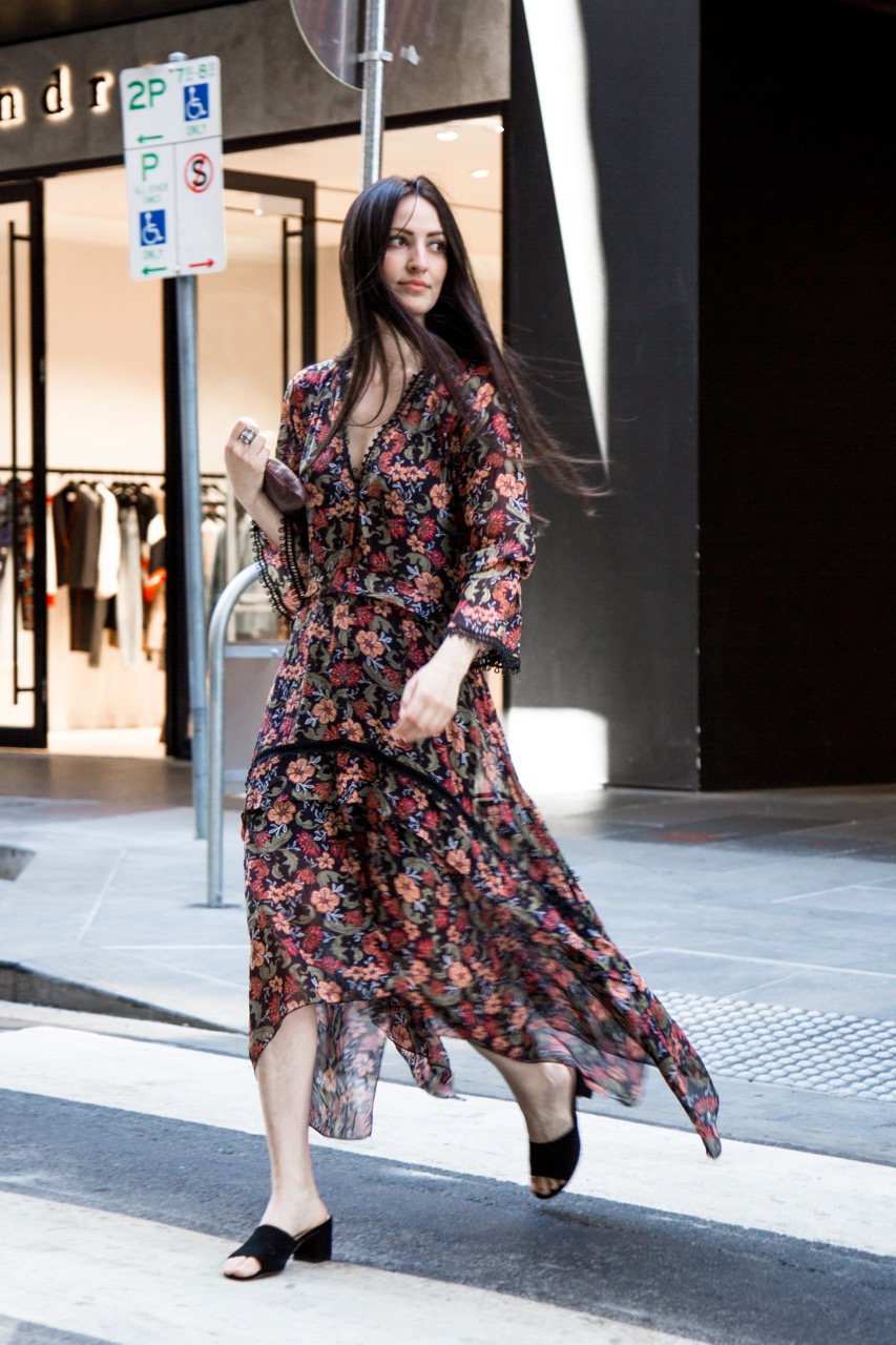 """VIC: Fazilet Cayli, designer, Little Collins St. """"I take influence from the 70s."""" Photo: Libby Matson"""