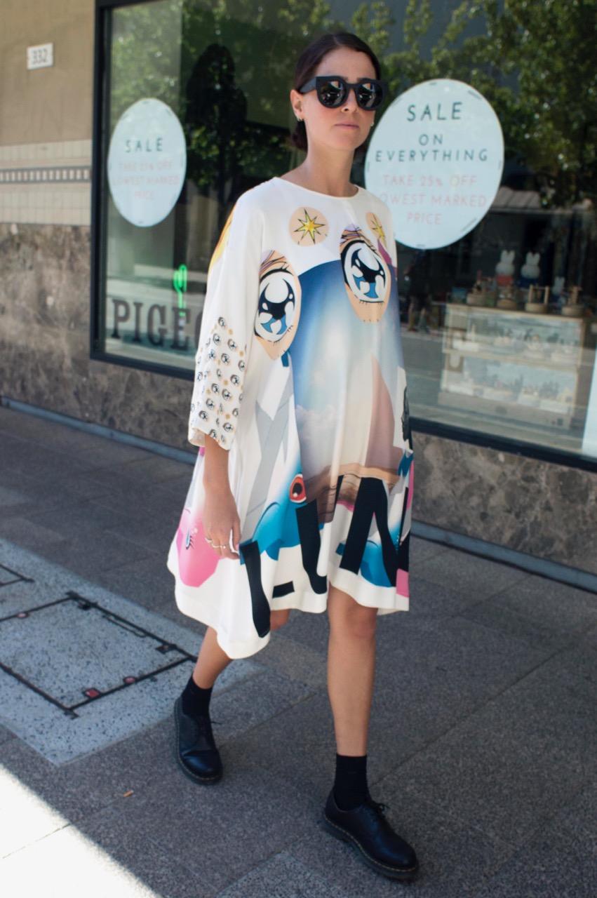 """WA: Emma Larbalestier, sales assistant, Murray St. """"I dress for myself, my own enjoyment."""" Photo: Tiffany Kennedy"""
