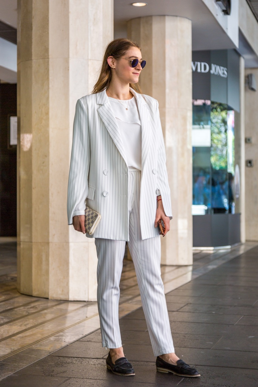 """VIC: Julia Vitebsky, solicitor, Bourke St Mall. """"I like to mix street style and elegant pieces."""""""