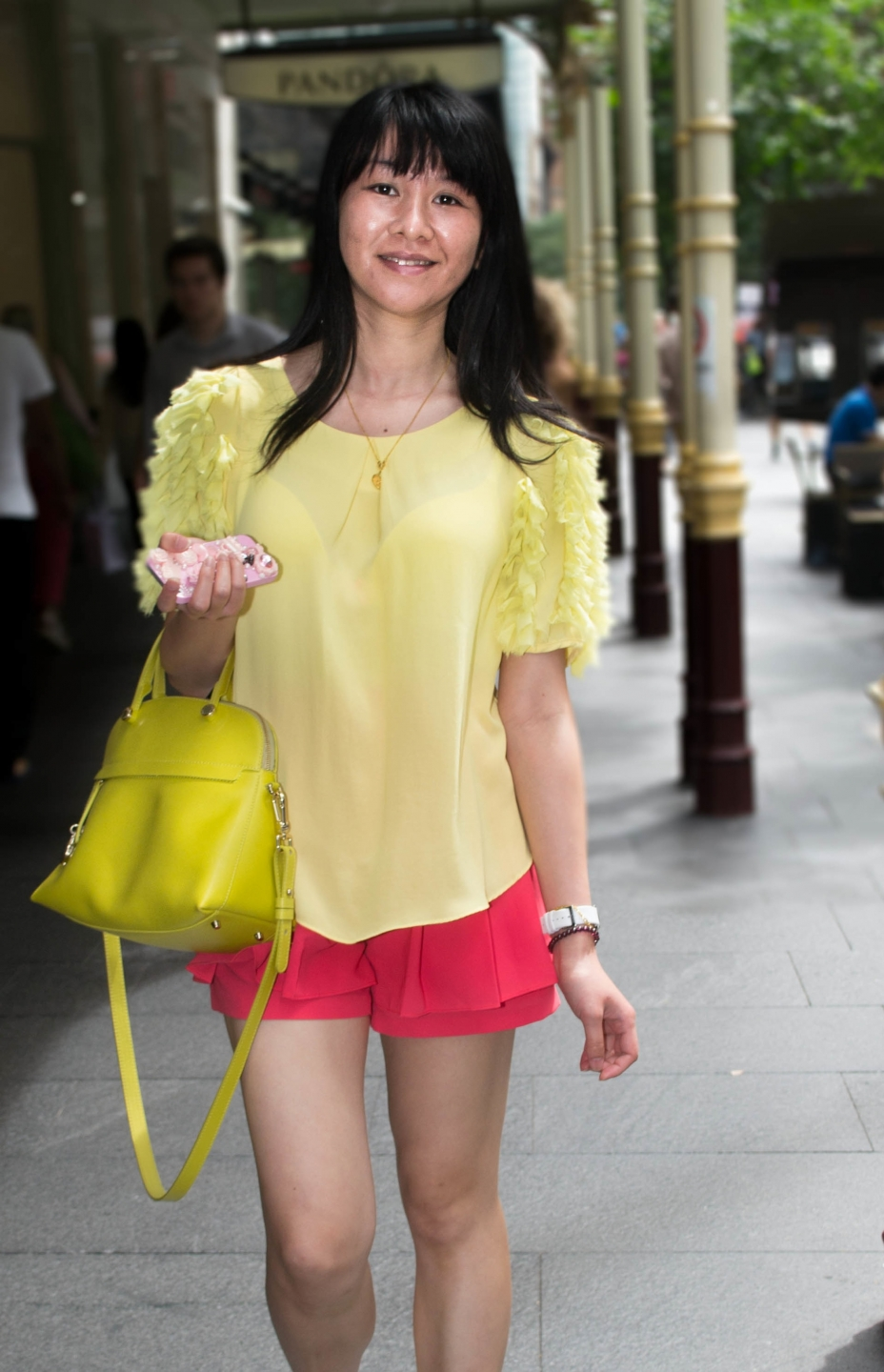 "NSW: Linna He, customer service, Sydney. ""I like style and anything that's colourful."" Photo: Alice Sciberras"