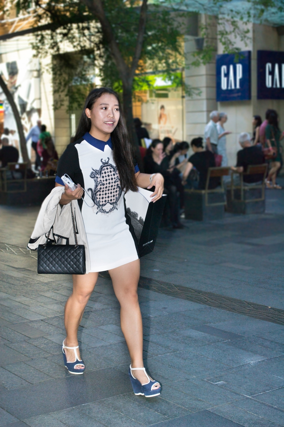 "NSW: Peijyu Gan, spotted at Westfield by Alice Sciberras. ""My personal style is OL (Office Lady) simple."""