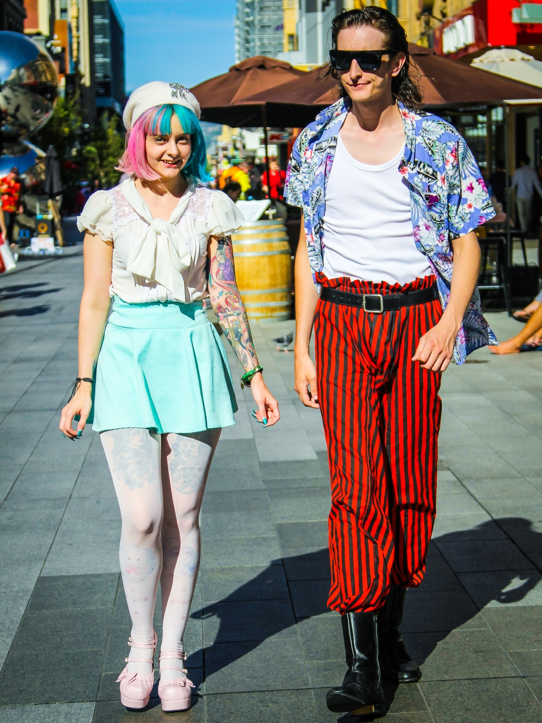 "Mavi Lee, fashion design student & Dylan, ""Pet Detective"". Mavi: ""My style's quirky, cute and colourful: inspired by Japanese fashion."" Dylan ""I need an adult"". Photo: Maciek"