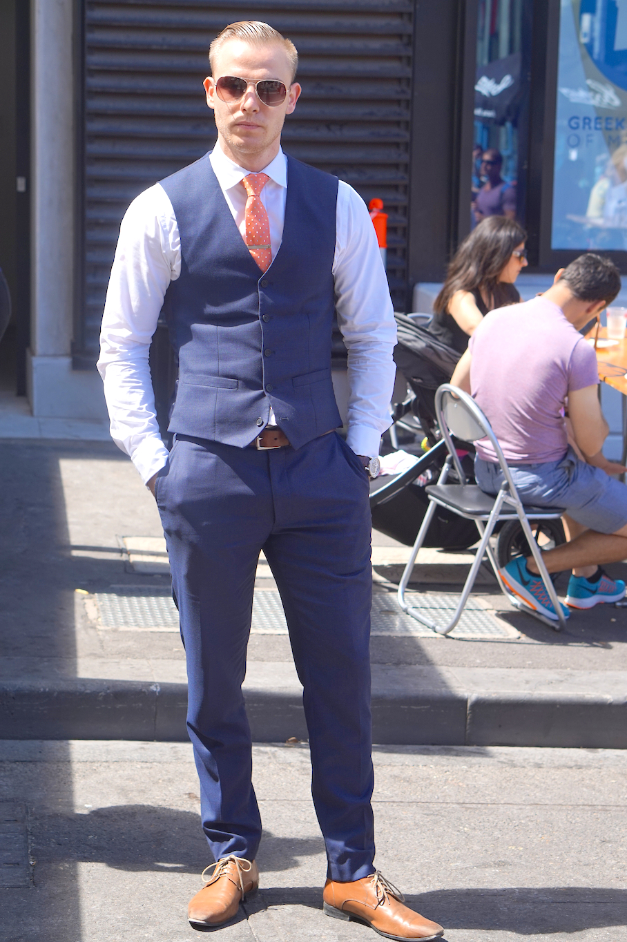 "Vic: Jeremy Vogrin, Director, Russell Street, Melbourne. ""I dress to impress."""