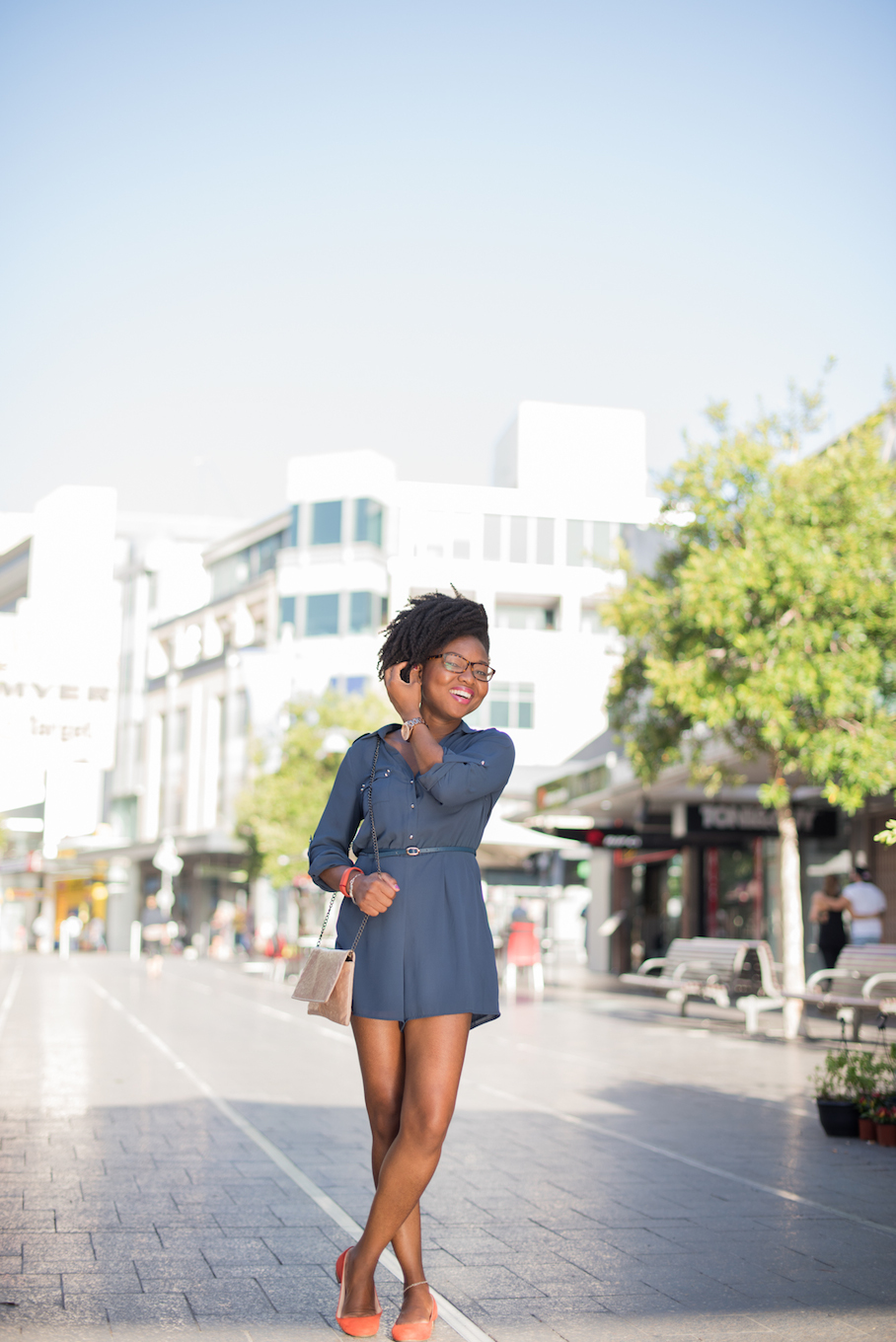 "NSW: Aina Tugbobo, Student, Bondi Junction. ""I love to look great. I would say my style's not stuck up, but still 'casual chic'."" Photo: <a href=""http://frederiquemadi.com/"" target=""_blank"">Frédérique Madi </a>"