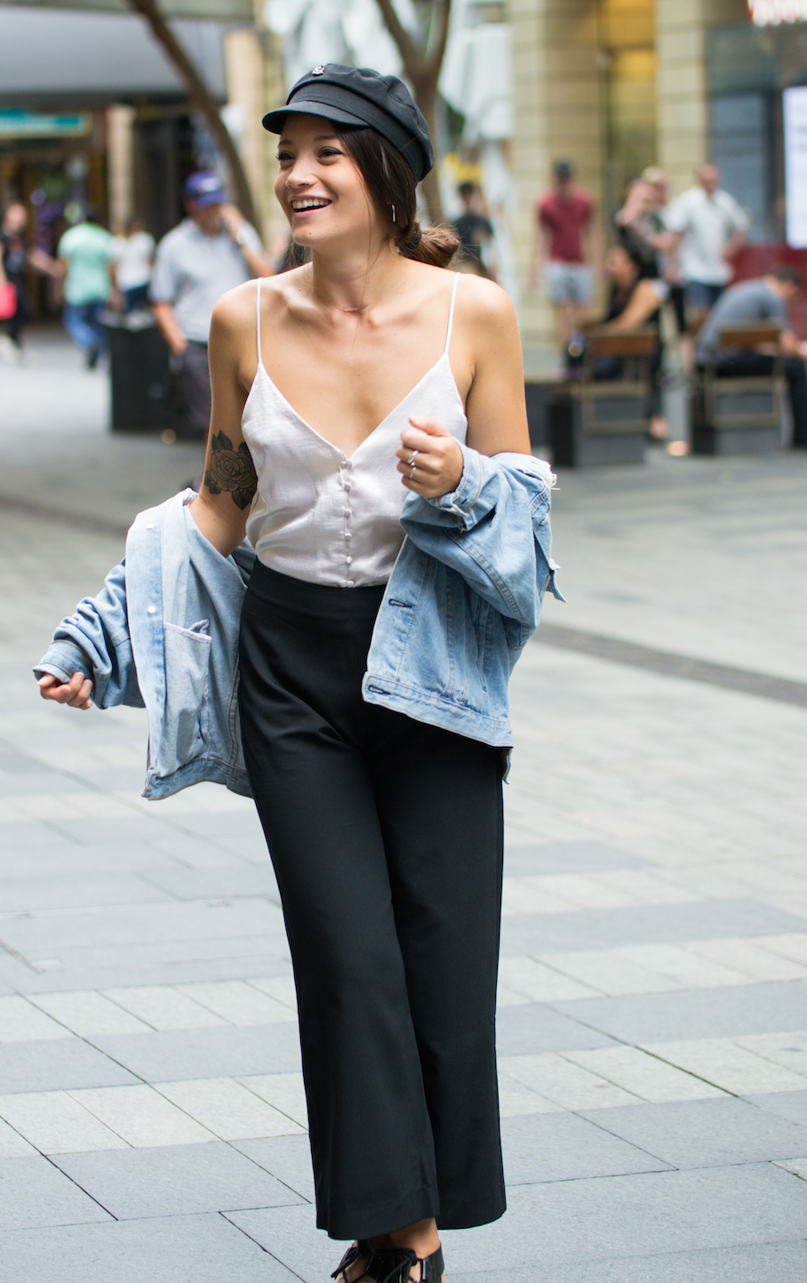 "NSW: Tahlia Murphy, Retail, Pitt St Mall. ""I'd describe my style as Bond Girl."" Photo: Alice Sciberras."
