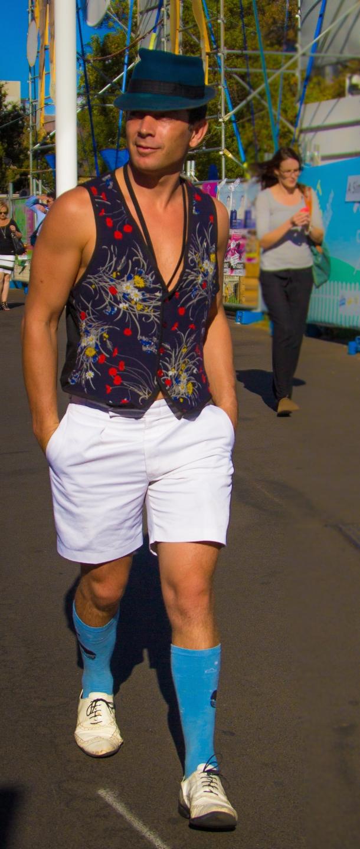 "SA: Daniel Oldaker, actor, Adelaide's East End. ""I'm dandy."" Photo: Maciek"
