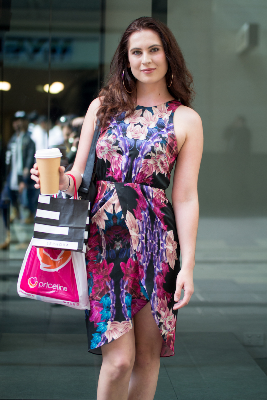 "NSW: Stephanie Luford, Student, Pitt St. ""I'd describe my style as feminine and elegant."" Photo: Alice Scriberras"