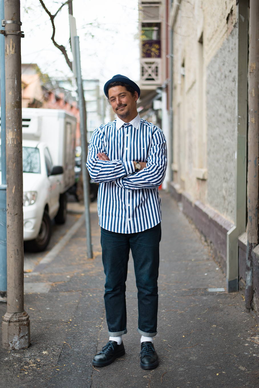 "SA: Mike Carruthers, Buyer, Union St, Adelaide. ""I'm always up for beers!"" Photo: Dimitra Koriozos"
