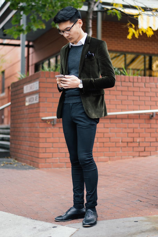 "SA: Derek Lee, Retail Assistant, Ebenezer Place. ""I think of the season when deciding what to wear."" Photo: Dimitra Koriozos"