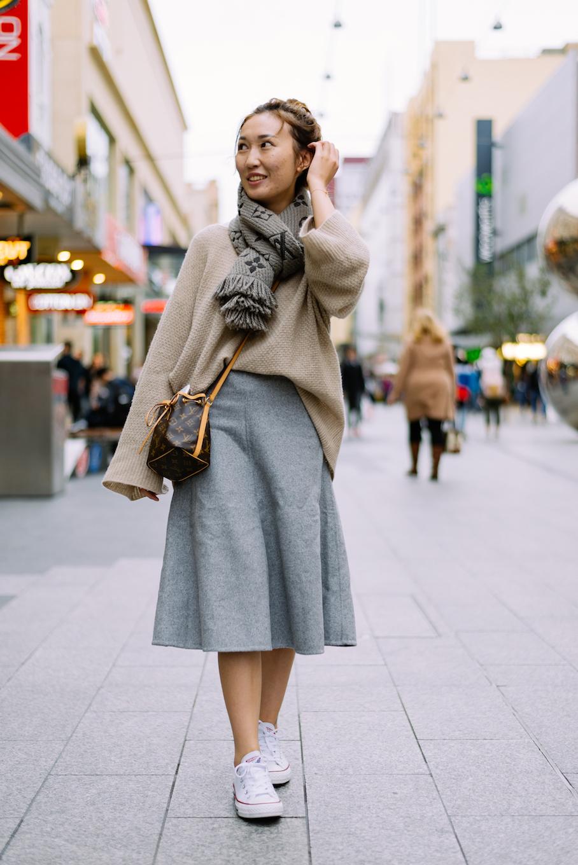 """SA: Ganlin Yang, student, Rundle Mall. """"I love Louis Vuitton."""" Photo: Dimitra Koriozos"""