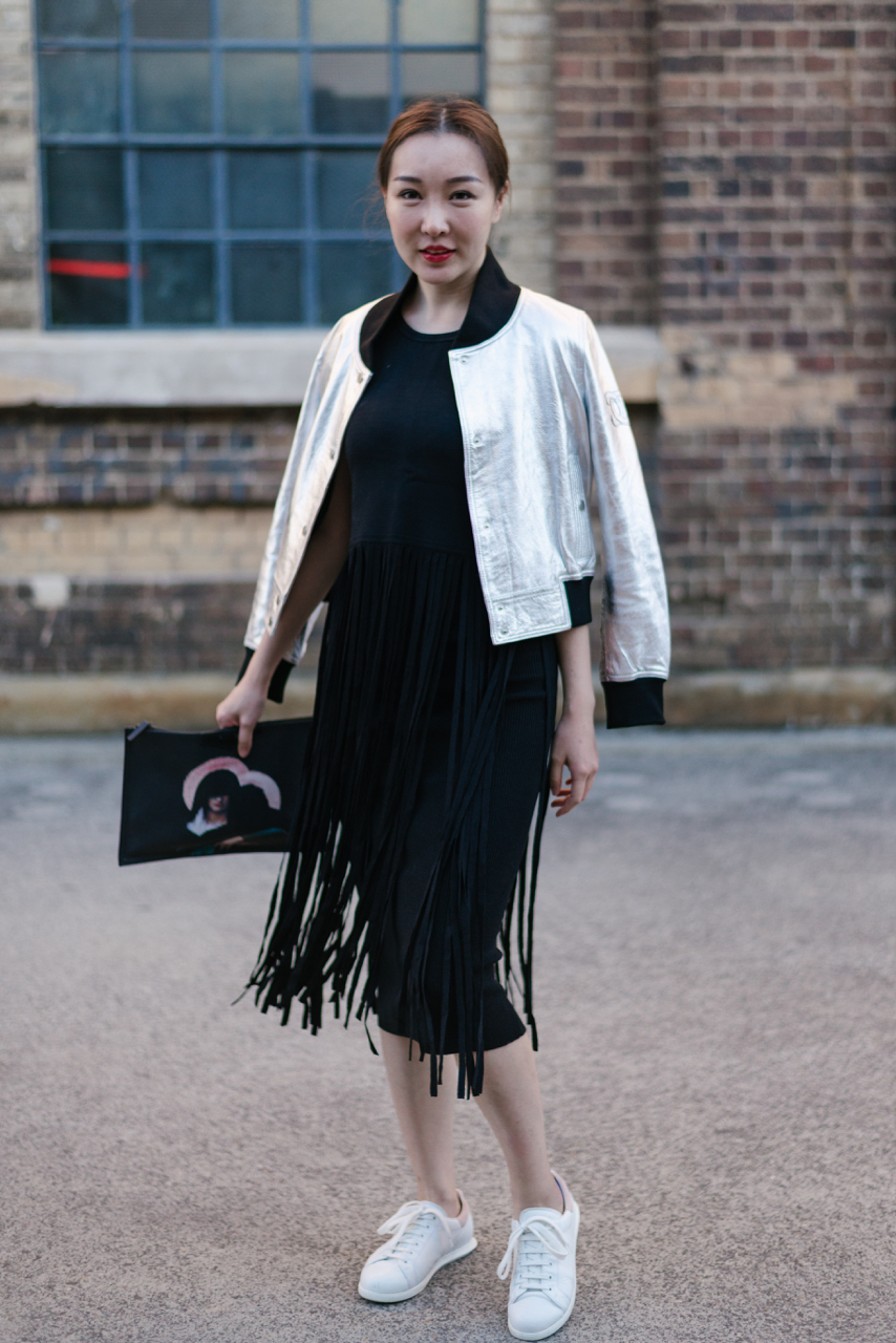 NSW: Mia Guo, Marketing, at Fashion Week, Sydney. Photo: Dimitra Koriozos