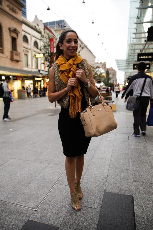 "SA: Sara Hamidi, Student/Hospitality, Rundle Mall. ""I change my mind like I change my clothes."" Photo: Morgan Sette."