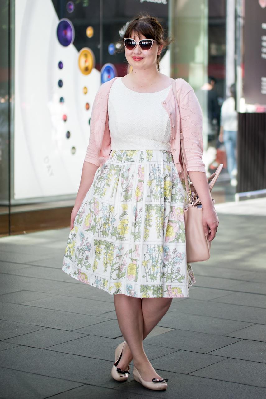 "NSW: Bridget Hinkelhein, Student, Pitt St. ""I tend to like florals, pastels and vintage."" Photo: Alice Sciberras"