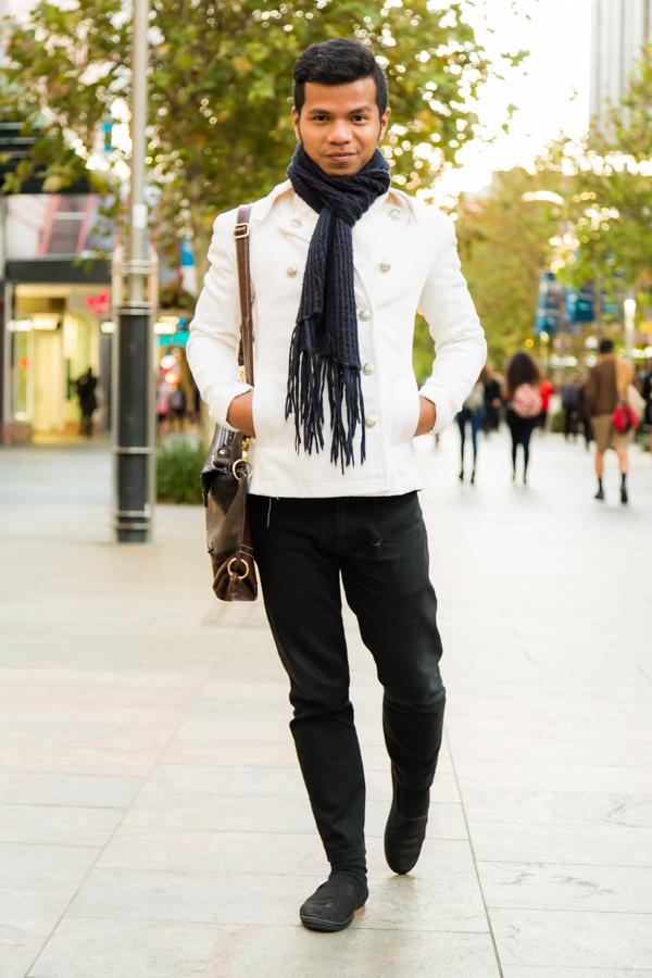 "WA: Christian Syah, Bartender, Perth. ""I wear long sleeve shirts because they're comfy to wear."" Photo: <a href=""http://www.rahstudios.com.au/street-style.html/"" target=""_blank"">Alain Quah</a>"