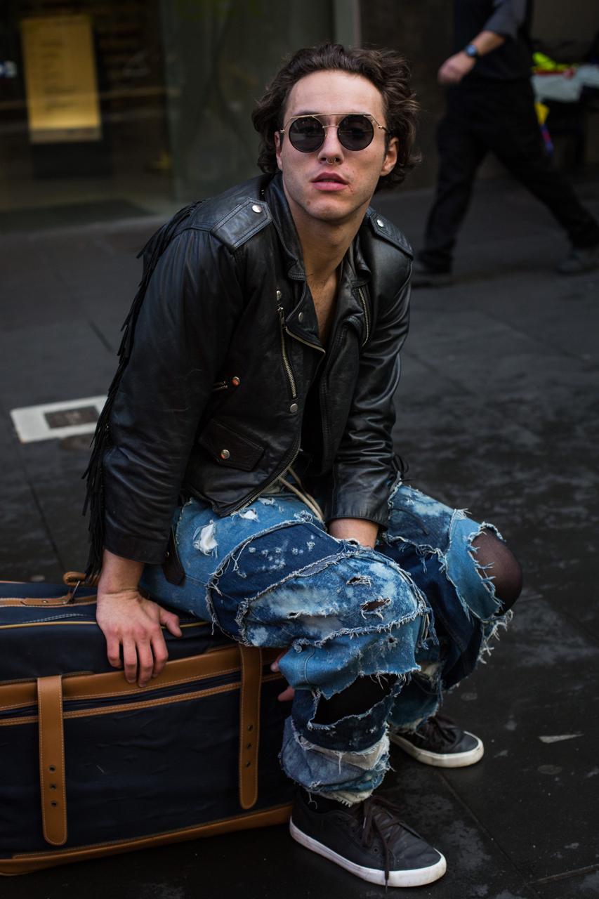 "VIC: Matthew Benson, dance teacher, Bourke St Melbourne. ""Fashion is expression."" Photo: Zoe Kostopoulos"
