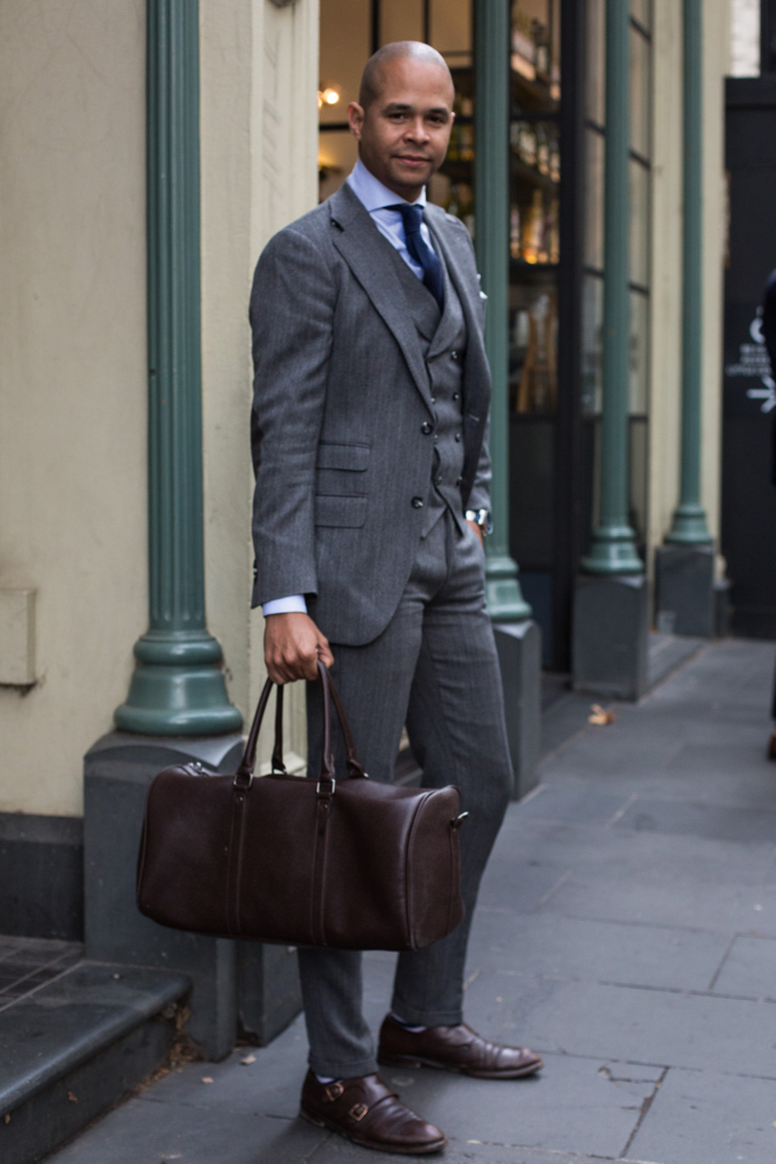 """VIC: Ian Rios, Custom Clothier,Collins St. """"Came to Australia straight from New York to create the best suits for the unaverage gentleman."""" Photo: Zoe Kostopoulos"""