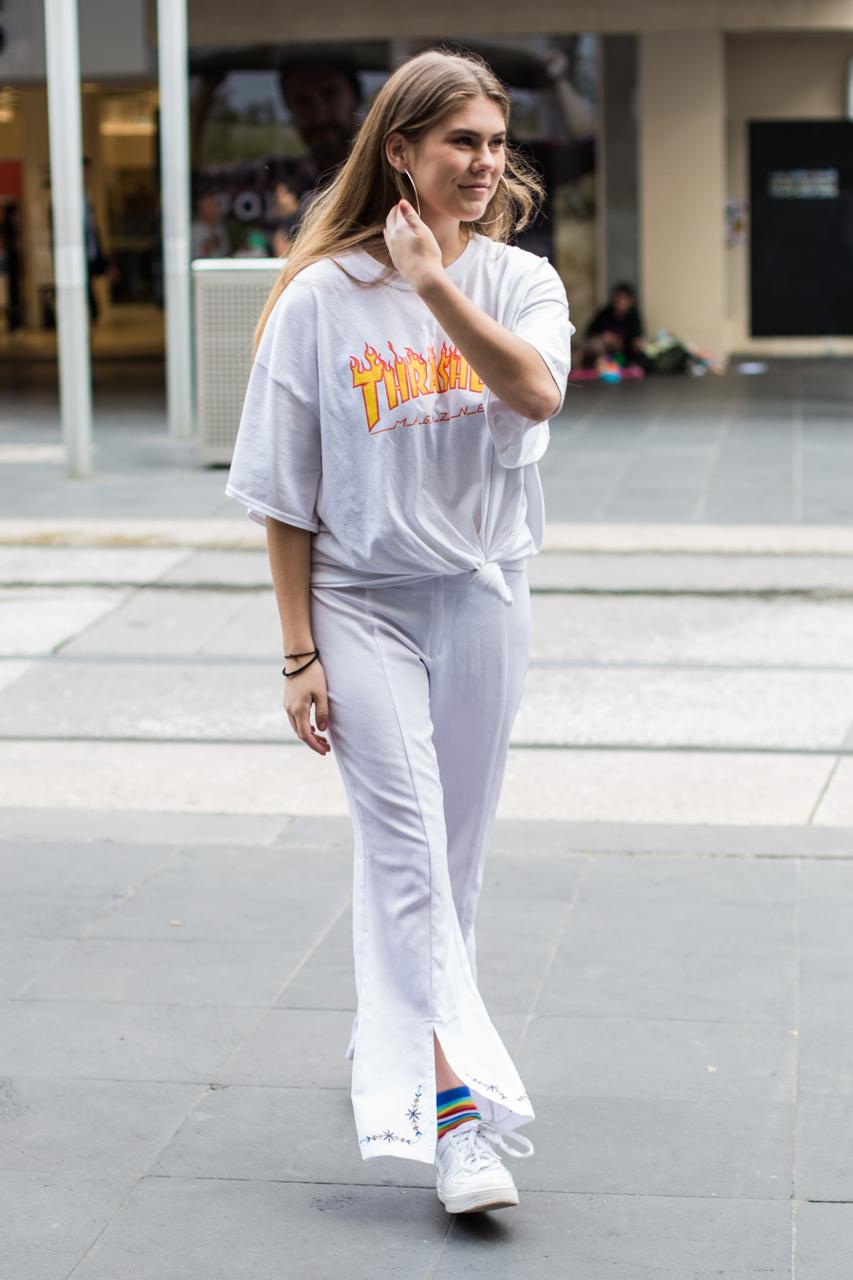"VIC: Jess Bicanski, waitress, Bourke Street. ""I like to create a new identity through style every day!"" Photo: Zoe Kostopoulos"