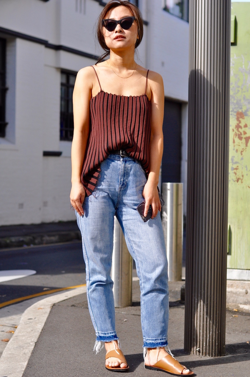 """NSW: Samantha Xu, brand manager & fashion buyer, King St, Newtown. """"I love Cameo Collective and Senso."""""""