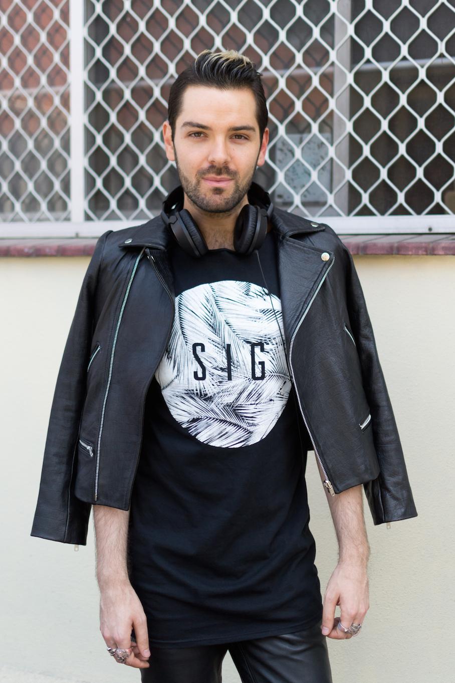 SA: Filip Odzak, DJ, at the Adelaide Fashion Festival. Photo: Dimitra Koriozos