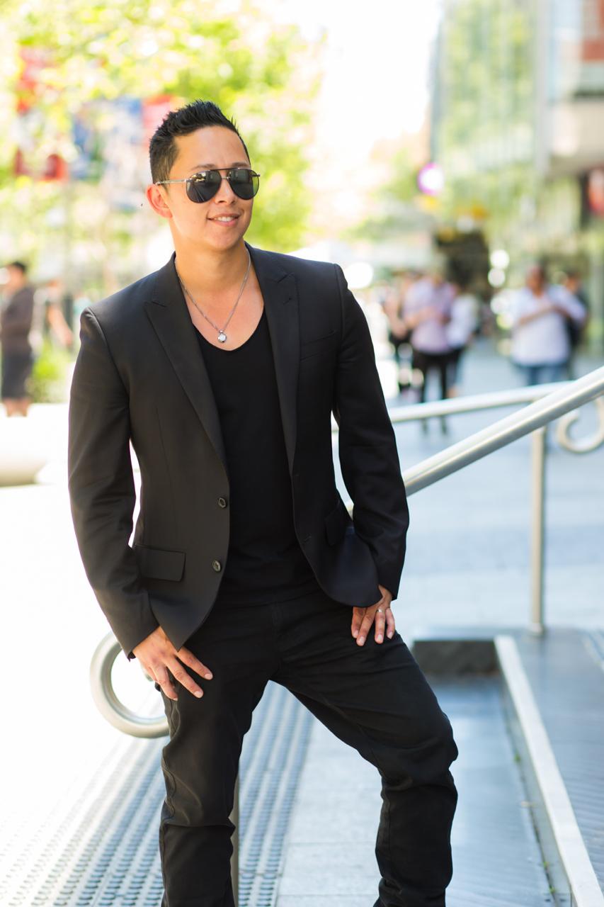"WA: Chris Kamp, IT Team Leader, Murray St. ""I like to be quite dark but chic fitting."" Photo: <a href=""http://www.rahstudios.com.au/street-style.html/"" target=""_blank"">Alain Quah</a>"