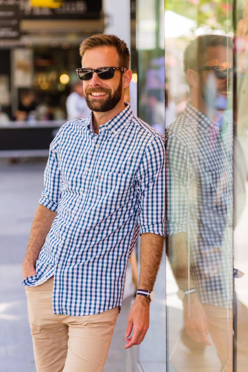 "WA: Shaun New, Programme Co-ordinator, Murray St, Perth. ""I like to be relaxed with what I wear."" Photo: <a href=""http://www.rahstudios.com.au/street-style.html/"" target=""_blank"">Alain Quah</a>"