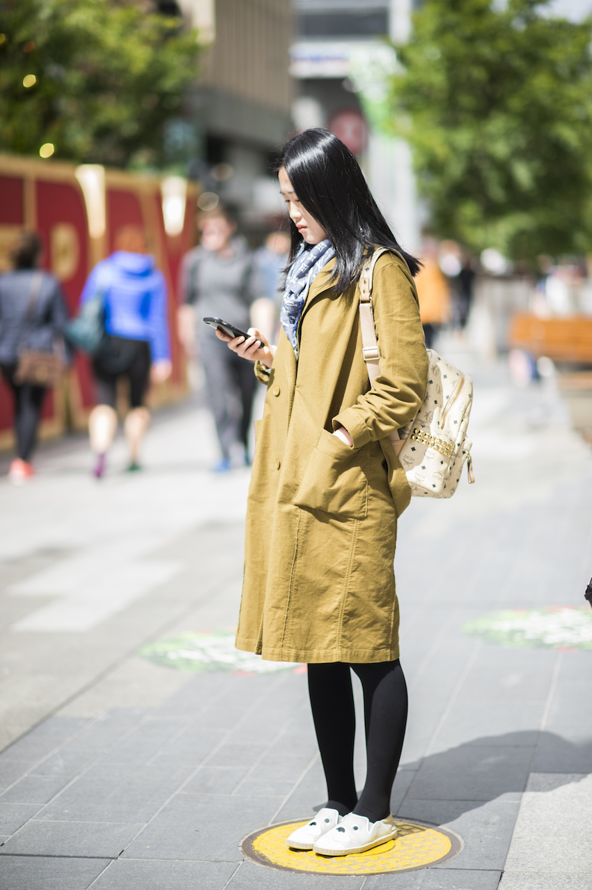 """SA: Effie, Student, Adelaide CBD. """"I'm just out shopping."""" Photo: Eli Francis"""