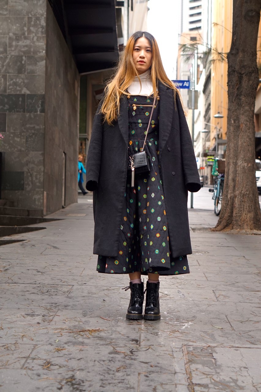 """Vic: Beatrice Chin Yee, Little Collins St, Melbourne. """"I like comfortable and flowy garments."""""""