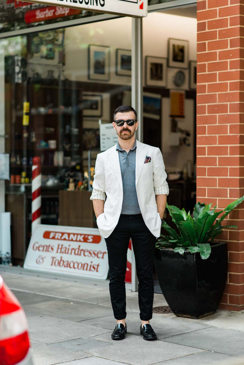 "SA: Petar Prodanovic, Designer & Fashion Illustrator, <a href=""http://www.rundlestreet.com.au/"" target=""_blank"">Ebenezer Place</a>, Adelaide. ""When in doubt - overdress."" Photo: Dimitra Koriozos"