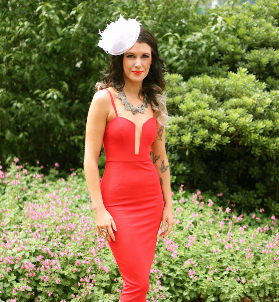 """Vic: Johanna Vicary, Hairdresser, Melbourne Cup. """"I love to accessorize any outfit with Samatha Wills Jewellery. I'm slightly obsessed."""" Photo: <a href=""""http://www.marythamphotography.weebly.com/"""" target=""""_blank"""">Mary Tham </a>"""