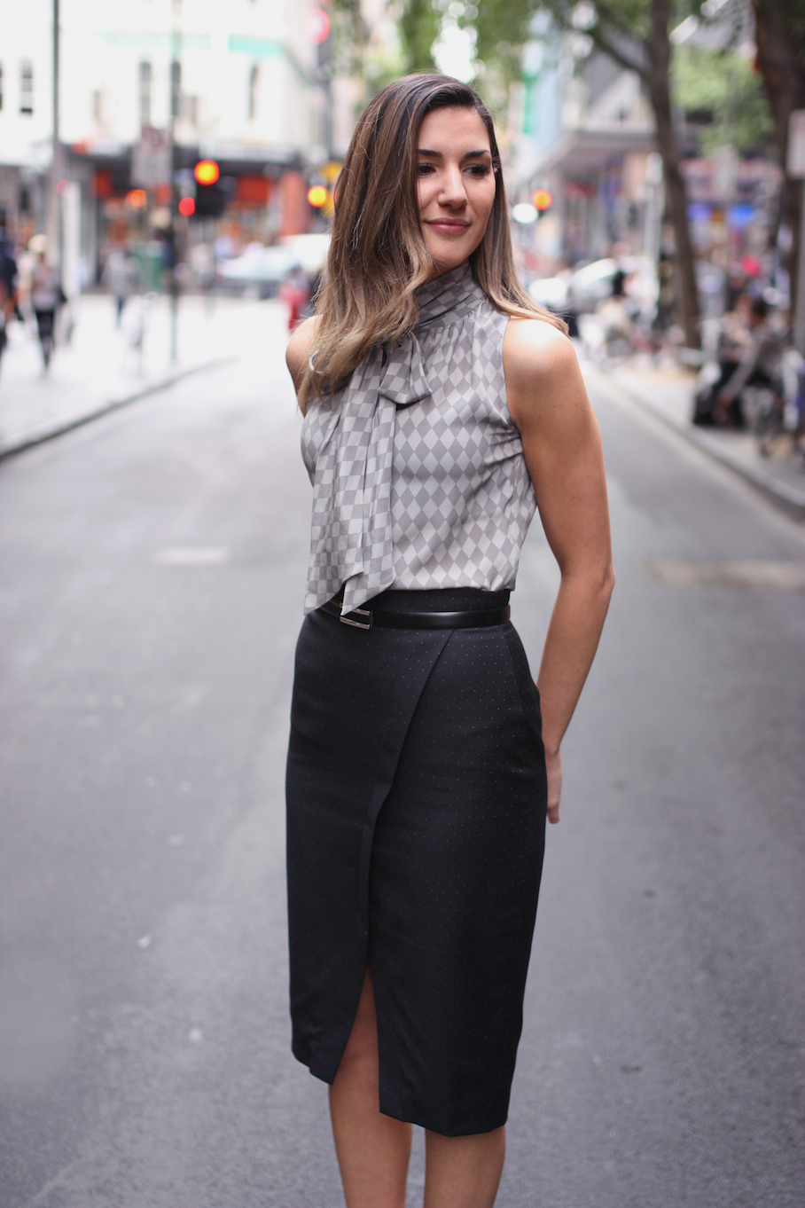 """Vic: Adele Sienna, Store Manager, Little Bourke St. """"I'm wearing work wear but usually outside of work  my style is edgier. A lot of black on black."""" Photo: <a href=""""http://www.marythamphotography.weebly.com/"""" target=""""_blank"""">Mary Tham </a>"""