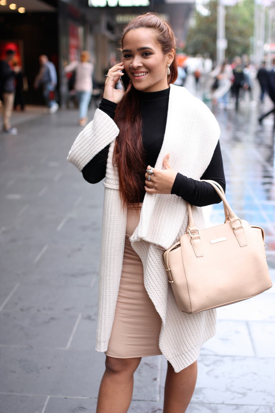 """Vic: Katie, student, Melbourne CBD. """"I love a high waisted skirt and stylish crop top. always my go to."""" Photo: <a href=""""http://www.marythamphotography.weebly.com/"""" target=""""_blank"""">Mary Tham </a>"""