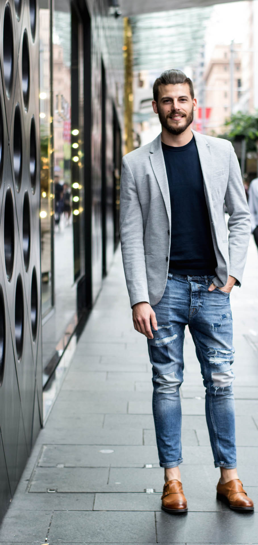 """NSW: Aaron Kuskopf, HR Manager, Sydney. """"My style is relaxed smart casual, comfortable and trend conscious."""" Photo: Alice Sciberras."""