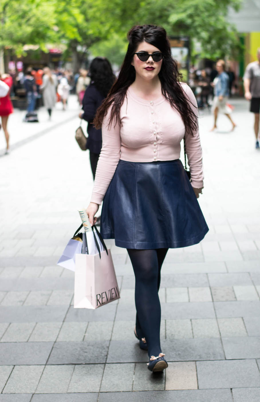 """NSW: Alexandra Dockrill, teacher, Pitt St. """"My style is girly with a touch of vintage or edge."""" Photo: Alice Scriberras"""