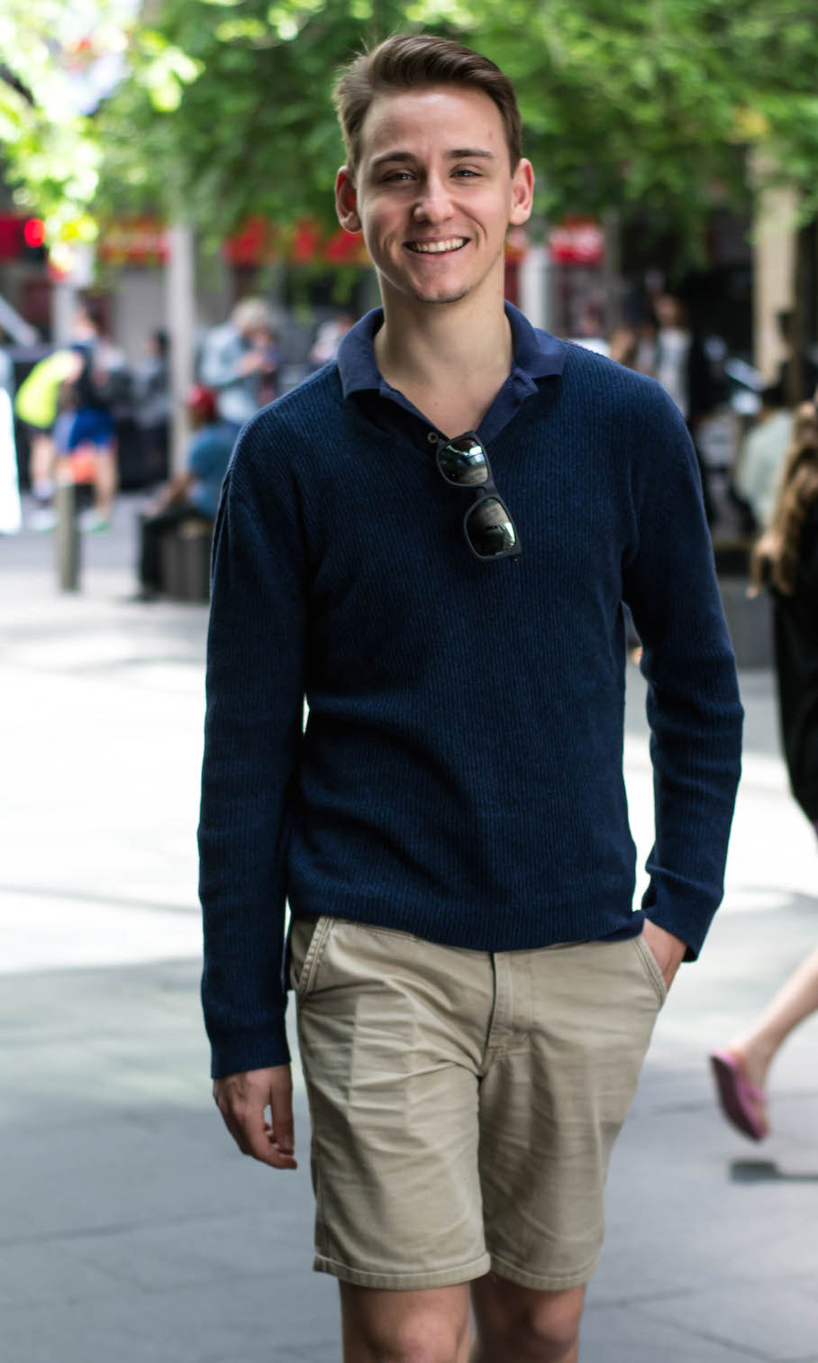 """NSW: William Matterson, Engineering/Business Student, Pitt St. """"I got roped into this because of my girlfriend."""" Photo: Alice Sciberras"""