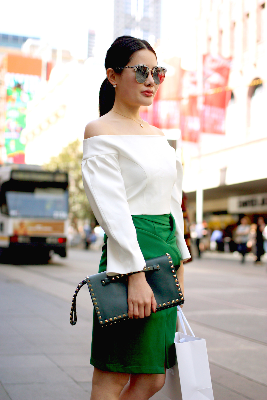 """Vic: Sara Chen, Receptionist, Bourke St. """"My style is colourful and feminine."""" Photo: <a href=""""http://www.marythamphotography.weebly.com/"""" target=""""_blank"""">Mary Tham </a>"""