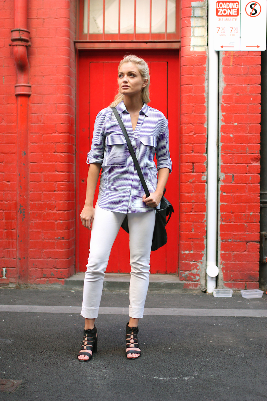 """Vic: Silje Lockert, Store Manager, Little Bourke St. """"I love a feminine and comfy style."""" Photo: <a href=""""http://www.marythamphotography.weebly.com/"""" target=""""_blank"""">Mary Tham </a>"""