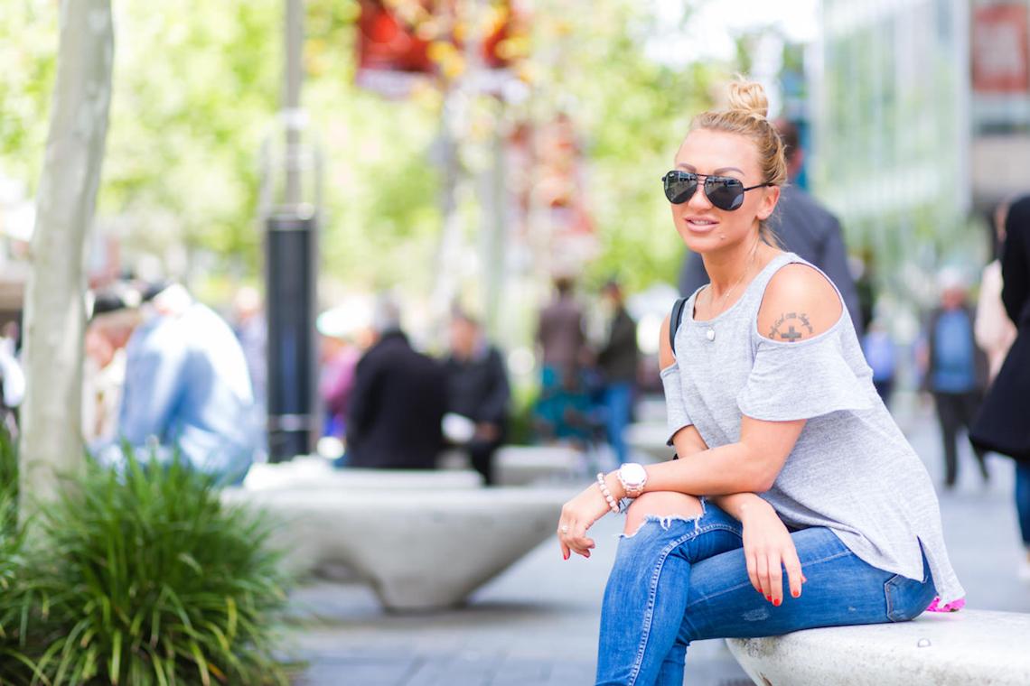 "WA: Jessica, (Hospitality), Murray Street.  ""I've got a casual style."" Photo: <a href=""http://www.rahstudios.com.au/street-style.html/"" target=""_blank"">Alain Quah</a>"