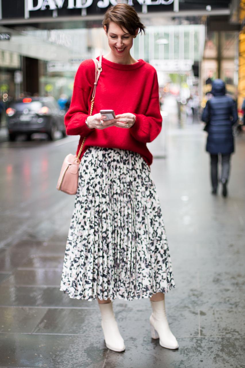 "Street Style Australia - VIC: Sally Mackinnon, stylist, Melbourne CBD. ""Classic, contemporary with an edge."" Photo"" Zoe Kostopoulos"