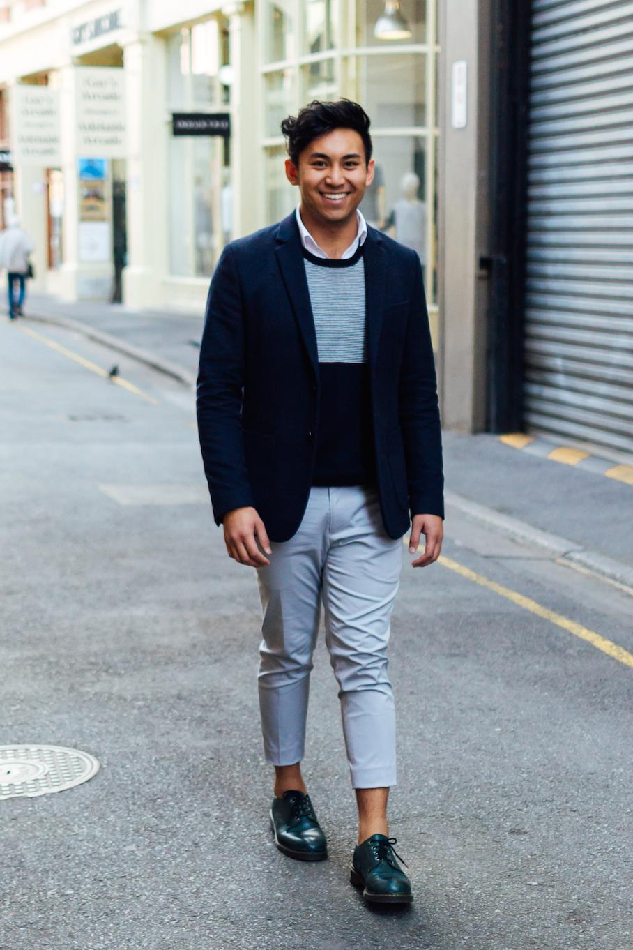 "SA: Andy Trevor Tran, student, Adelaide. ""My style is simple, minimal, polished."" Photo: Dimitra Koriozos."