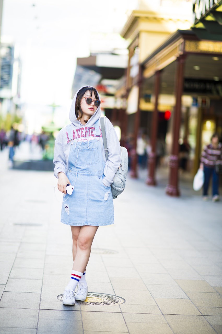 SA: Valerie, Student, Rundle Mall Adelaide. The only brand I know I'm wearing is Adidas. Photo: Eli Francis