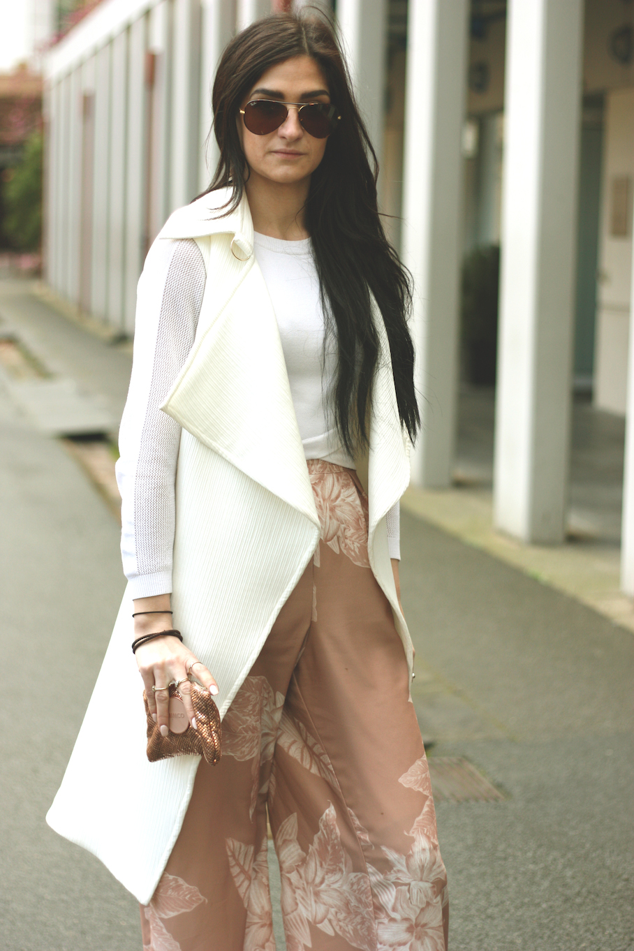 """Vic: Rachel Barker, Visual Merchandiser, Elizabeth St, Melbourne. """"I love pants, layering, bright colours and comfort"""".  <a href=""""http://www.marythamphotography.weebly.com/"""" target=""""_blank""""> Photo: Mary Tham </a>"""