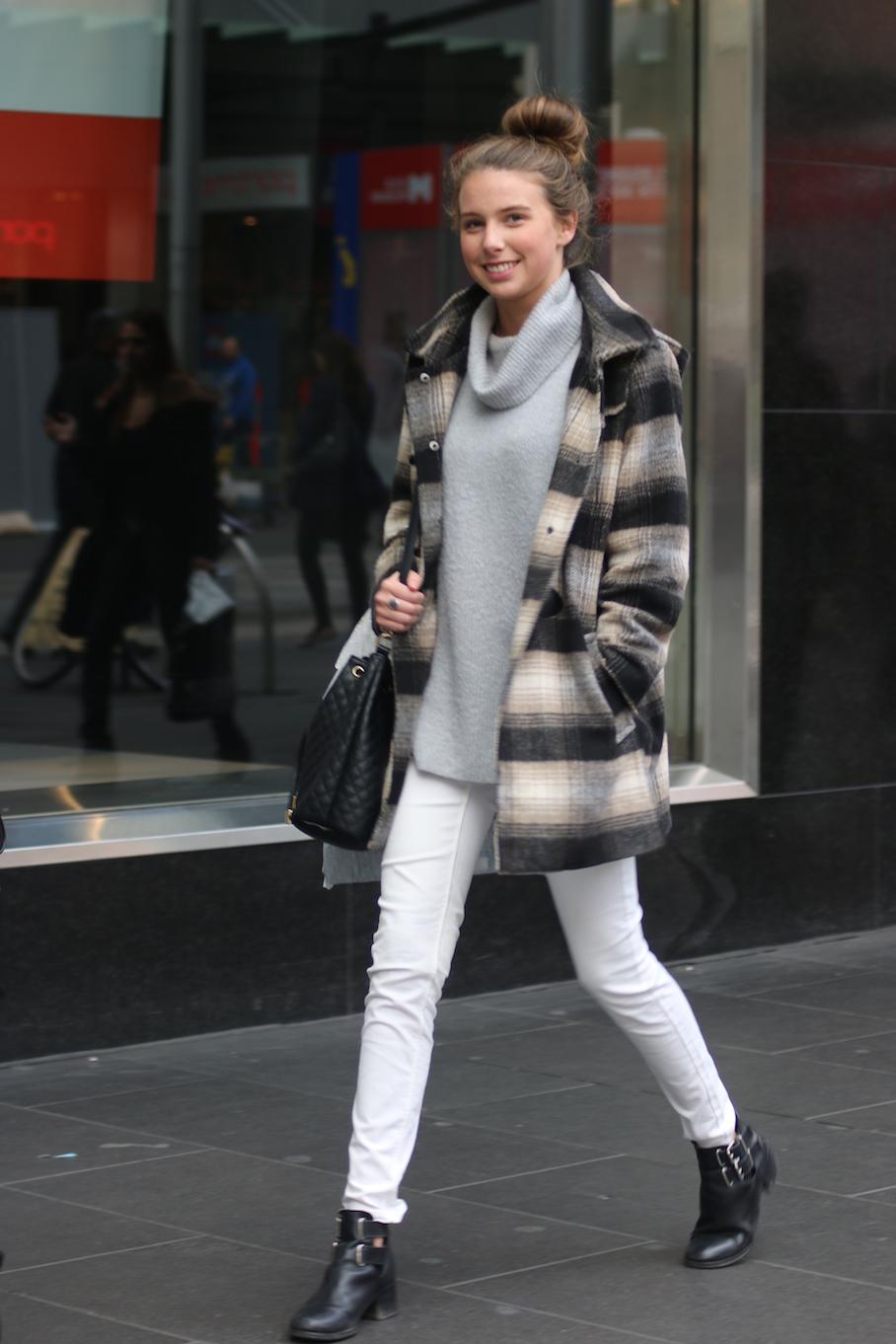 Vic: Sara Venter, Business/Arts student, Bourke St Melbourne. Photo: Tracie Sullivan.