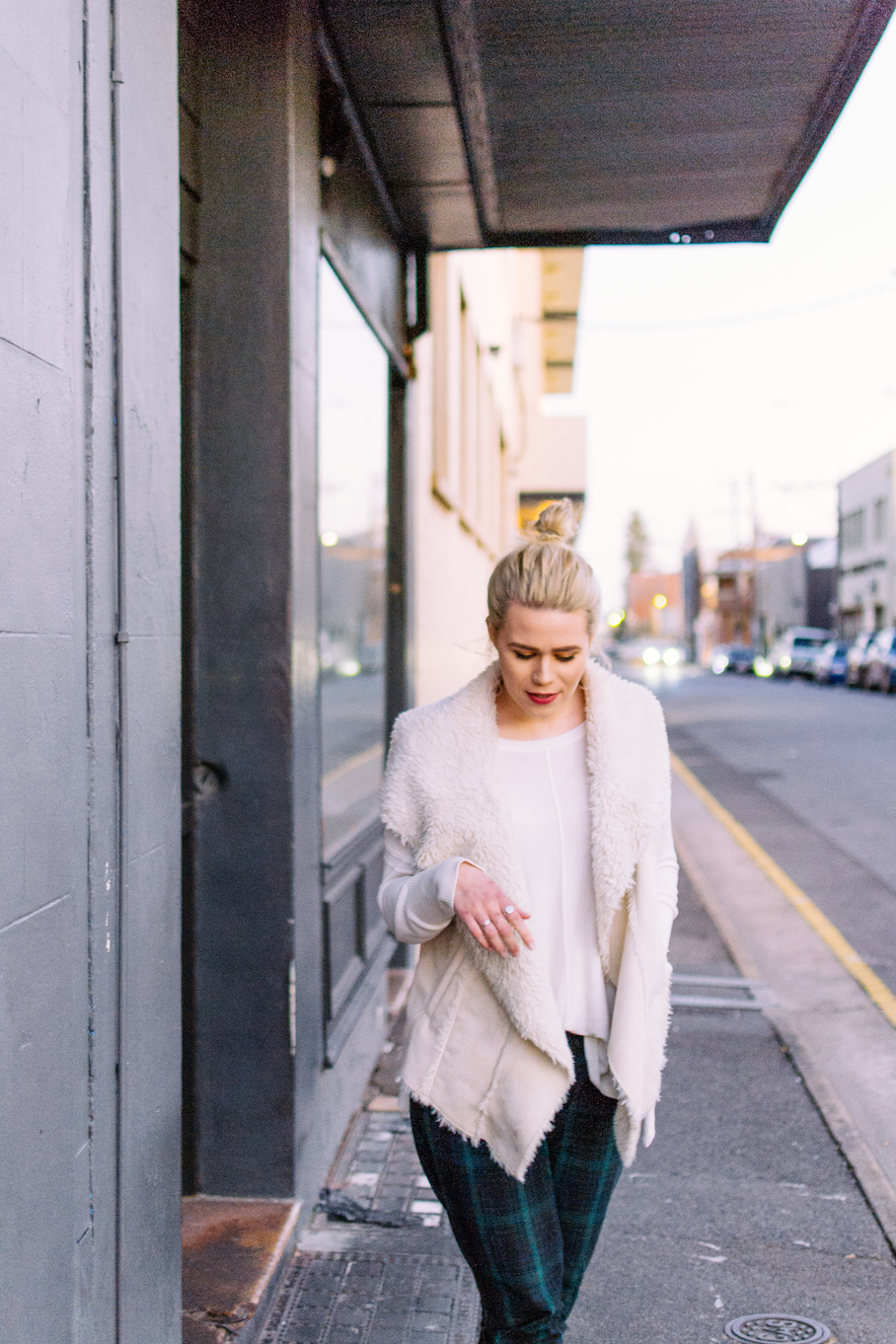 """SA: Brie Gleeson, Singer/Barista/Student, Currie St, Adelaide. """"Your own style reflects you, so wear it well."""" Photo: Dimitra Koriozos."""