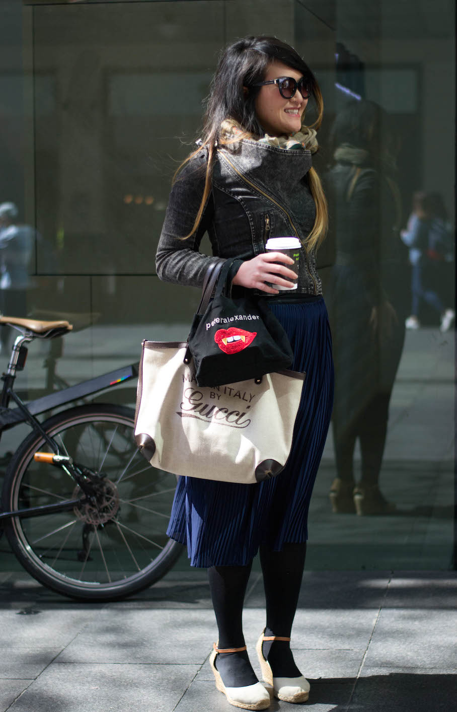 """NSW: Noako Kojo, spotted out front of Myer, Sydney by Alice Scriberras. """"It's spring!"""""""